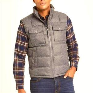 Men's Goodfellow Charcoal Grey Puffer Vest